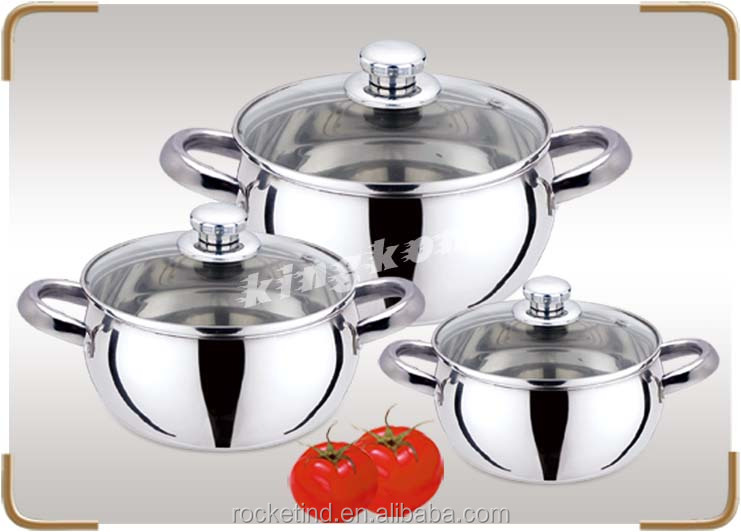 Food Grade Stainless Steel Cookware Soup Pot Cooking Pots And Pans