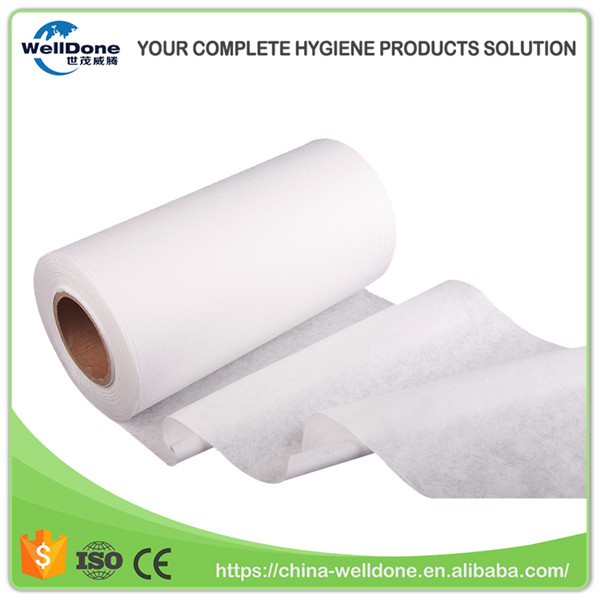 Manufacturer Supply Sanitary Napkin Surface Polyester Spunbond Nonwoven Farbic