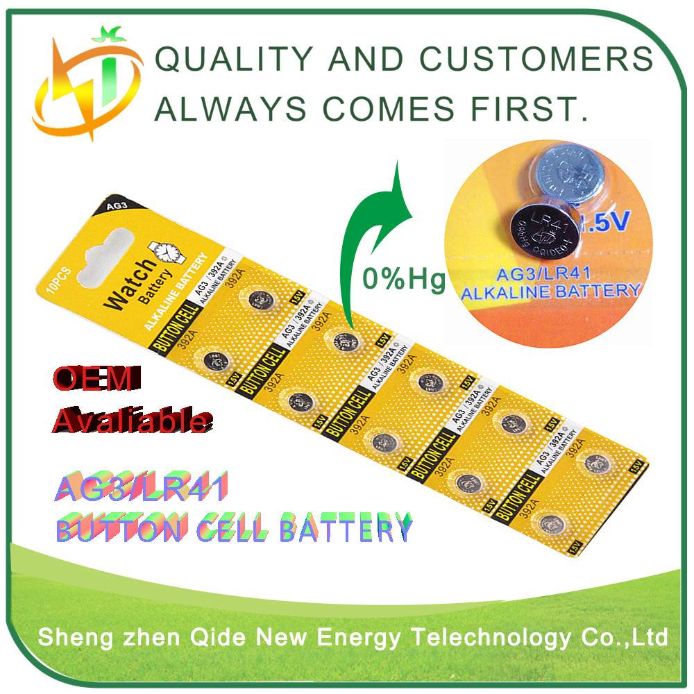 2016 factory price battery factory 1.5V AG series Alkaline button cells ag10 ag13 ag3