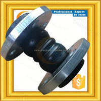 Corrosion resistant power plant double arch flanged rubber expansion joints