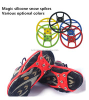 Promotional items high elasticity silicone non-slip shoe covers crampons/rubber shoes cover magic spike ice grippers