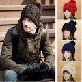 New Popular Solid Color Unisex Winter Knitting Winter Beanie Hat 18373