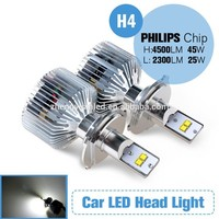 China factory P5 Philip s MZ LED 45w auto led headlight h4 for off road vehicle