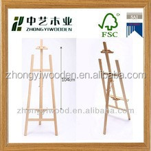 hot selling FSC&SA8000 manufacturer price decorative small wooden easel for sale