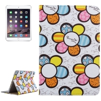 Best Selling Sunflower Pattern PU Leather Wallet Case for iPad Mini 4 flip cover