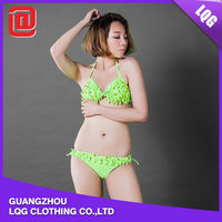 2015 lastest women sexy transparent two piece girl bikini swimwear