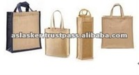 Handled Foldable Jute Shopping Bag