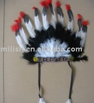 carnival indian feather headdress headpiece MH-0154