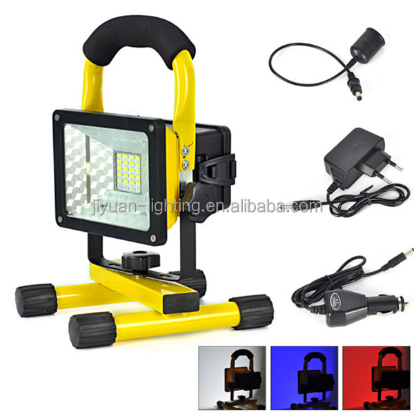 2016 wholesale super bright portable lighting tower 10W LED flood light outdoor rechargeable light with best price