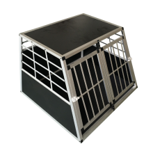 Double door Aluminium dog cage/dog house/travelling dog cage