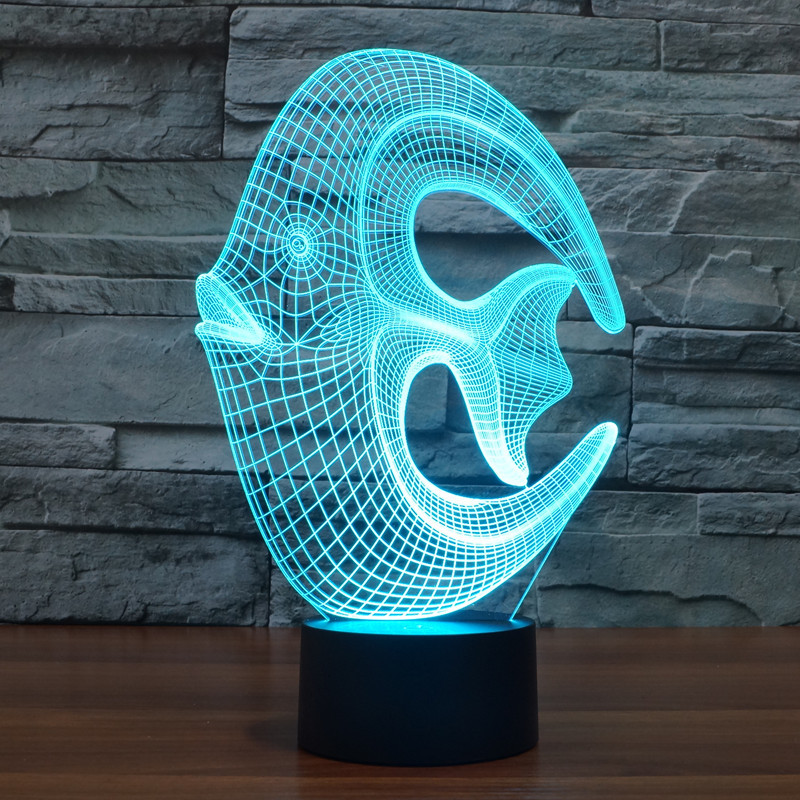 Illusion Coral Fish 3D LED Night lights 7 Light Colors Table Lamps for Party Children Bedroom Lamp Baby Toys Christmas Gift