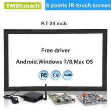[TMDtouch] 19 inch usb multi ir touch screen overlay kit,2 points infrared touch screen