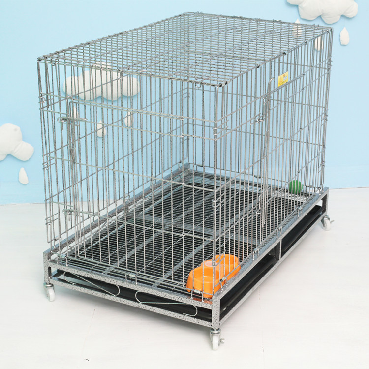 anti rust animal cage square tube dog kennals foldable dog crate