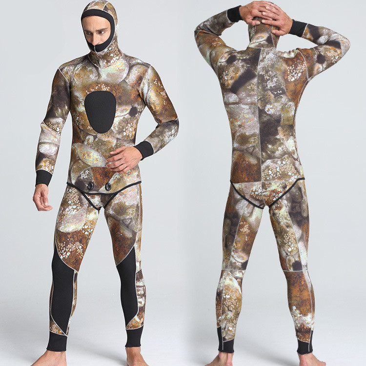 Men's 5mm Neoprene Wetsuit Jumpsuit Sublimation Diving Surfing Suit