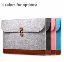 Notebook Felt & Leather Laptop Case Sleeve With mouse case for Macbook 11''12''13''15''