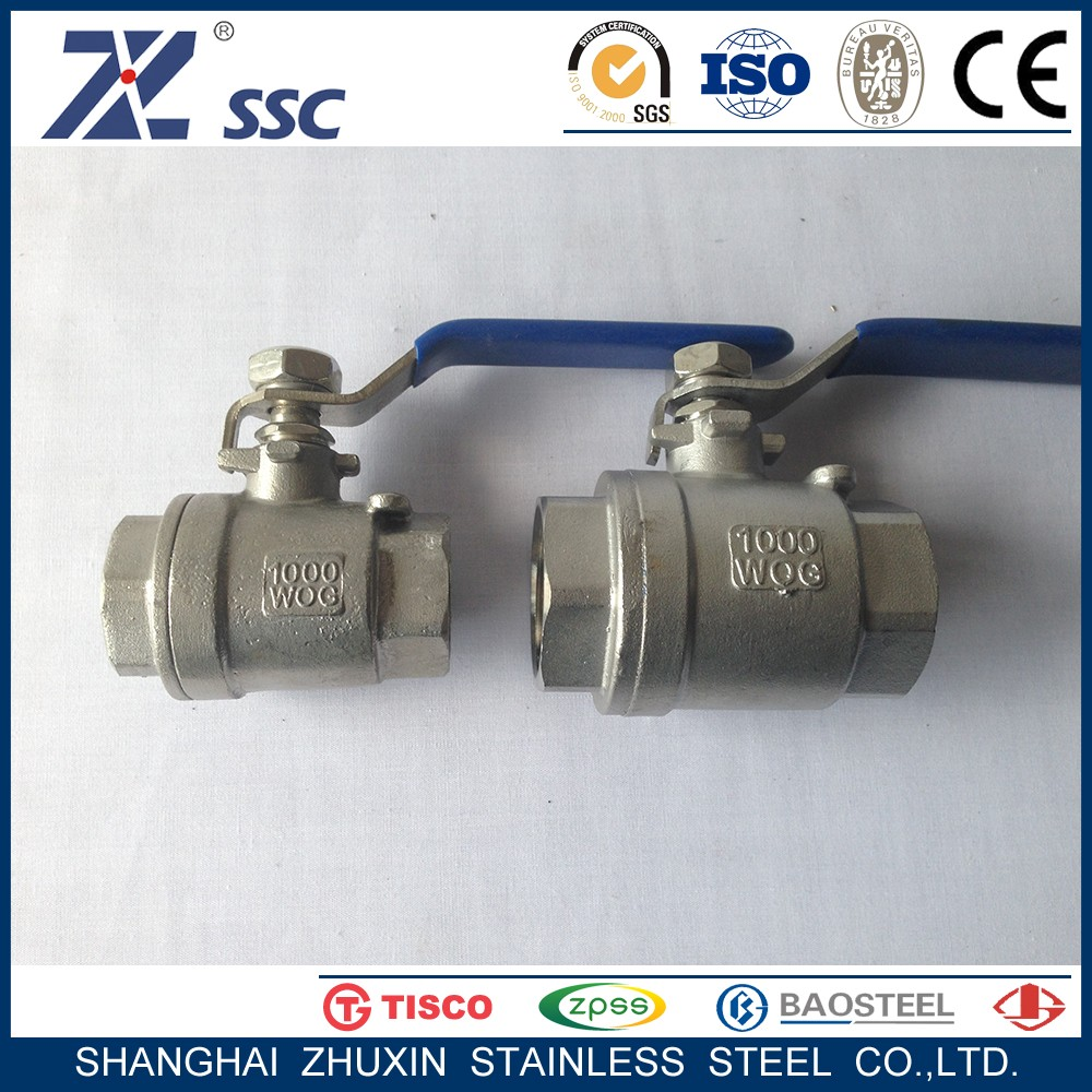 PN1.6 PN2.5 PN4.0 PN6.4 WCB CF8 CF8M Stainless Steel One Piece Type 1PC Internal Tread Ball Valve