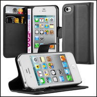 Wallet Leather Moblie Phone Case Cover for Apple iPhone 4 4s