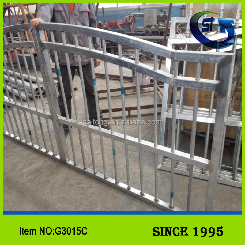 High Quality Metal Iron Fence,Iron Mesh Fence Gate,Wrought Iron Fence Cheap double swing gate G3015C