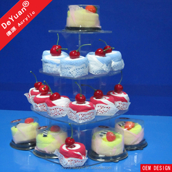 Plastic Holder Stand / Wedding Round Acrylic Cupcake And Cake Stand