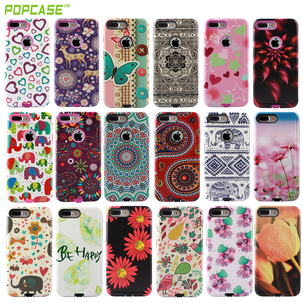 High quality gummy combo cases ,Girls love China factory low price phone accessories for Iphone7/7plus