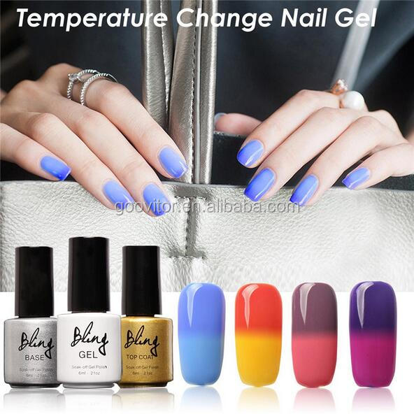 Wholesale Bling Gel 30 Colors LED Temperature Change Gel Nail Polish