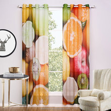 Sheer Curtains For Living Room Printed Colorful Fruit Curtains A Couple