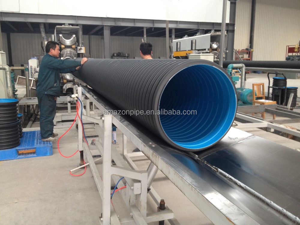 HDPE double wall corrugated pipe drainage pipe black pipe
