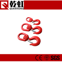 Red Spray Swivel s shaped hook