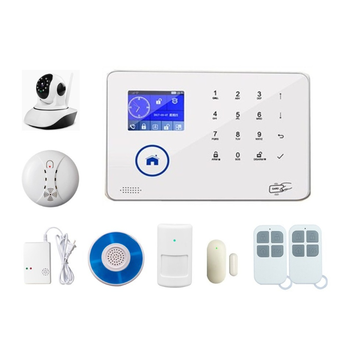 Newest WIFI/<strong>GSM</strong>/3G/IP CAMERA Home Intruder House alarm system with Vibration sensor and Smart Life APP