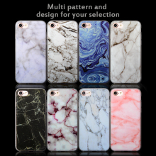TPU Gel Soft Marble Pattern Back Case Cover,Durable Mobile Clear Slim Ultra Cover Case For Iphone 7