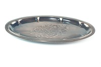 Beautiful stainless steel round plate for food/round tray fruit plate
