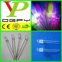 Fast flashing/slow flashing white transparent 2-pin Round 3mm RGB led diode