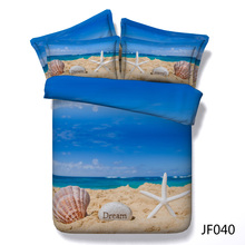 New Summer Holiday at the Beach 3d HD digital bedding set