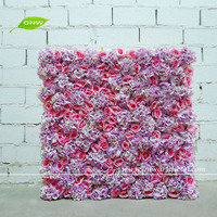 GNW FLW1508009 Professional manufacturer Wedding backdrop wall artificial silk flower for sale