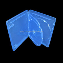 14mm 3 discs blue ray dvd case /14mm blue ray dvd box for 3 discs