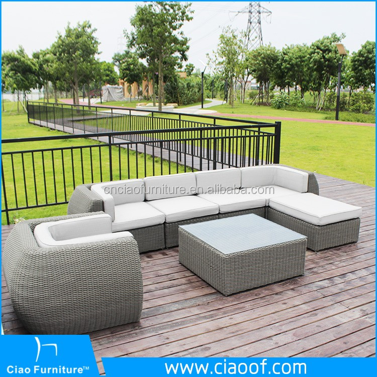 Colonial Style Synthetic Rattan Sofa Heb Patio Furniture