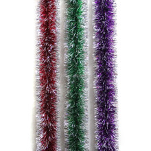 hanging christmas tinsel garland premium plastic christmas wired tinsel garland