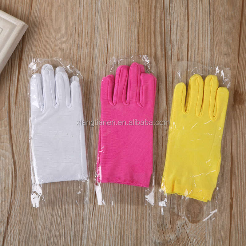 Yiwu glove factory sales cheap full finger color kids spandex hand gloves
