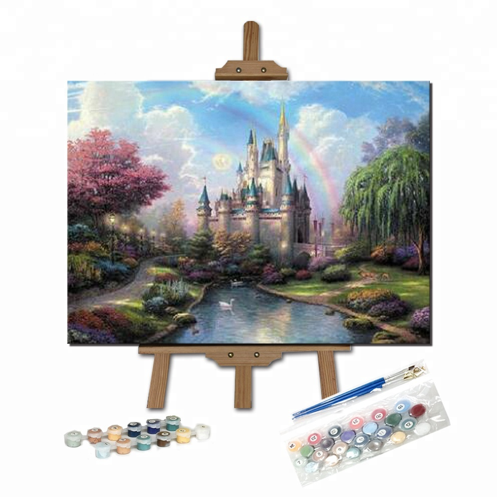 Fairy Castle Fashion Happy Drawing Painting by Numbers <strong>Pictures</strong>