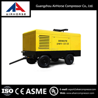 Portable diesel screw air compressor for mining