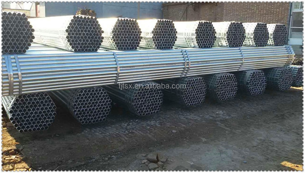 Tianjin manufacturer TSX_G3070 Hot dipped Galvanized Greenhouse Frame Welded Carbon Steel Pipe
