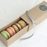 Lovely Kraft Paper Customized Macaron Box