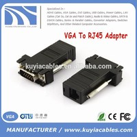 Kuyia Brand VGA TO RJ45 CAT5 CAT6 Adapter Lan cable Extender Connector