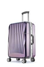 Caster Trolley lightweight aluminum frame hard shell suitcase suitcases men and women