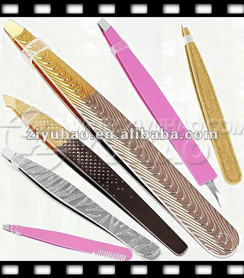 2013 Newest Fashion Ladies Amazing Stainless Steel Eyebrow Tweezer