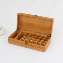 wooden storage case natural pine fits 5ml 10ml and 15ml rolls essential oil storage box