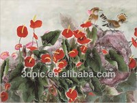 China wholeslae 3d oil painting picture of flowers