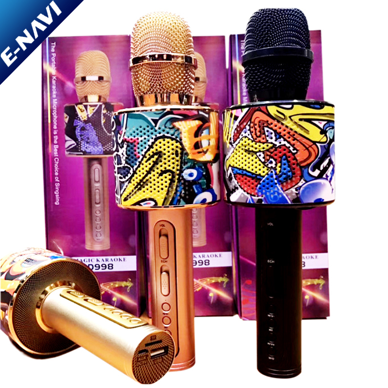 Handheld Wireless Karaoke Battery Microphone Speaker For Kids and Birthday Gifts