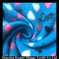 100% polyester printed anti pilling polar fleece fabric