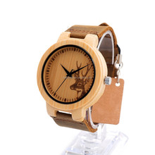 Watch bamboo customized japan Natural Africa flat wooden watch